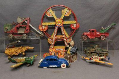 Cast Iron Tin Toy & Bank Auction..