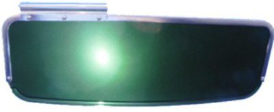 Visor, Oval Bug's up to '57, Dark Green, Right