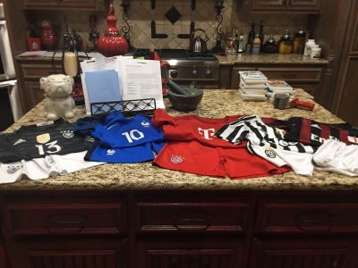 5 soccer jersey and short sets