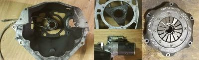 Ford Reverse Mount Setup-Starter-Clutch-Bell Housing-Throw O
