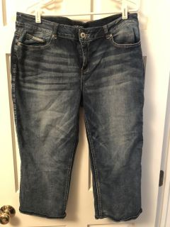 Maurice s Cropped Capri Pants Jeans Size 17/18