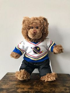 Build a Bear 17 Bear with Hockey Padded Shoulder Top and Padded Pants