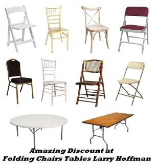 Amazing Discount at Folding Chairs Tables Larry Hoffman