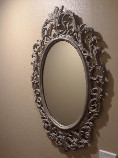 "20"" x 33"" Mirror Antique Heavy Cast Iron Frame"