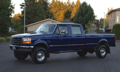 1997 FORD F350 4WD XLT CREW CAB LONG BED 7.3 TURBO POWERSTROKE DIESEL