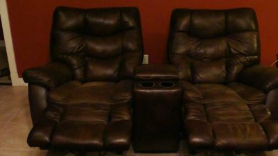 Loveseat Recliners- Microfiber Leather