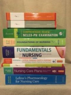 lot of 9 nursing books