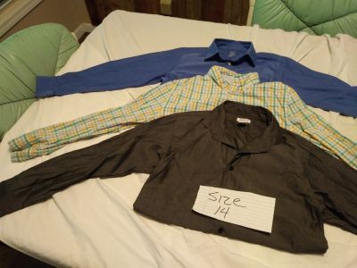 Boys size 14 clothes 4pair jeans,4 pair slacks,3 shirts