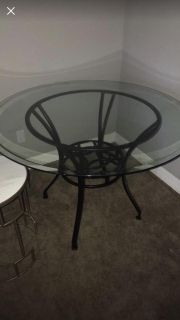 BEST OFFER Glass top table