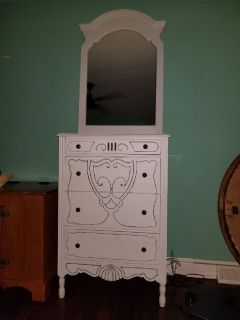 Unique Vintage Dresser with Mirror