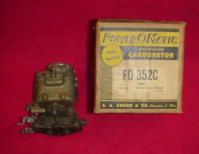 Find 52 53 FORD FLATHEAD REBUILT CARB CARBURETOR AUTO TRANS 110 HP MERCURY motorcycle in Fort Wayne, Indiana, United States, for US $119.95