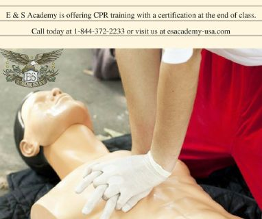 1 Day CPR training program available. Call and register today!