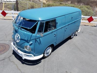 1960 double door restored panel dove blue