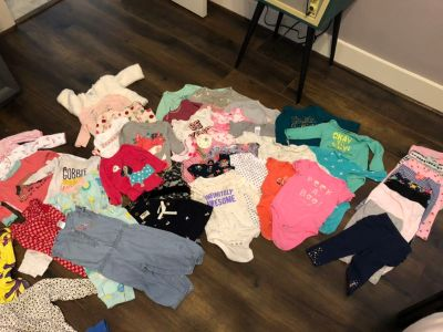 Lot of Baby Girl Clothing Size 6m