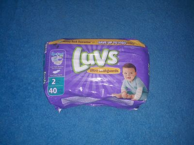 Luvs brand size 2,NEW IN PACKAGE,40 diapers SERIOUS BUYERS ONLY