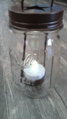Mason Jar Tea Light. . FREE