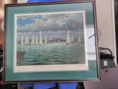 Boat picture frame