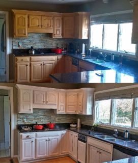 KITCHEN Cabinet Painting, Refinishing and Refacing