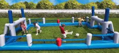 Inflatable soccerfootballhockey field by Bounce Round