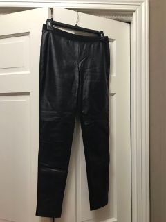 Decree leather look polyurethane front polyester back small pants