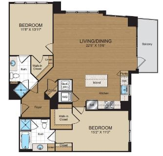 $7620 2 apartment in Reston