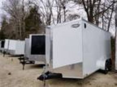 2019 Impact Trailers Shockwave 7 X 16 V Nose Ramp 7'0""