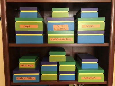 Storage Boxes. ( Large and (10) Small. Great Shelf or Closet Organizers!