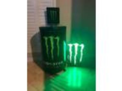 Monster Beverage Ice Chest and Monster Sign For Sale