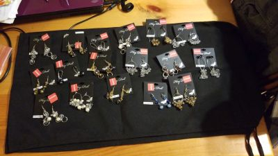 17 pair earring lot