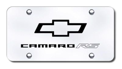 Purchase GM Camaro RS Laser Etched Brushed Stainless License Plate Made in USA Genuine motorcycle in San Tan Valley, Arizona, US, for US $39.52