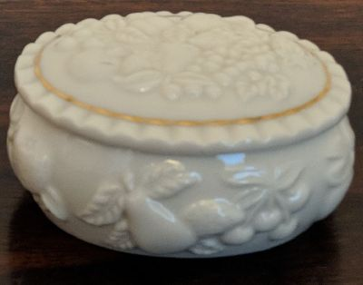 Lenox China Fruits Of Life Trinket Box With Lid