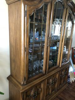 PRICE REDUCED Dining room set - china cabinet table and chairs