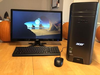 """2016 Acer Desktop PC Computer w/ 23"""" LCD Monitor, Keyboard, and Mouse"""