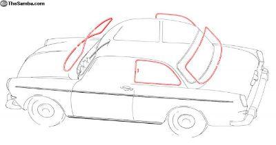 New Notchback Window Trim Kit W/O Pop-Outs