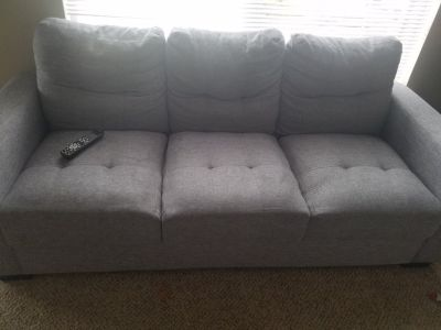 3 seater couch + 2 seater couch, 2 king size beds with mattresses & dunks, dresser, night stand