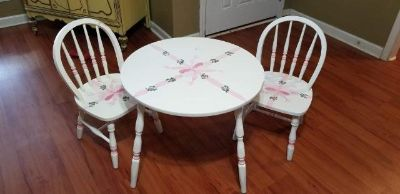 Vintage Kids Table and Windsor Chairs