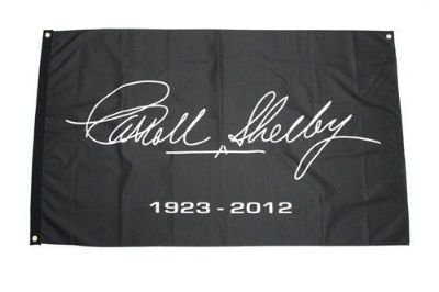 Buy CARROLL SHELBY SIGNATURE 1923-2012 3'X 5' BLACK MEMORIAL FLAG FORD MUSTANG COBRA motorcycle in Indian Wells, California, United States, for US $37.95
