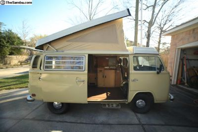 1978 Volkswagen Westfalia Pop Top Camper Bus