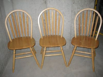Wooden Kitchen Chairs / Dining Chairs (Set of 3)