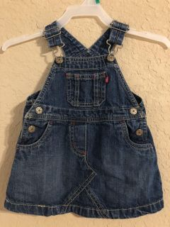 Blue Jean Jumper Dress. Nice Condition. Size 6 Months