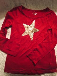 Cherokee red star with sequence shirt - size 6