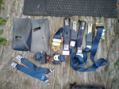 Parts For Sale: 74 75 76 77 78 79 80 81 Trans Am Firebird BLUE Seat Belts OEM 455 400 428 FRONT AND REAR