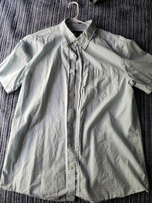 Blue button down shirt