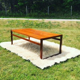 Mid Century Modern Teak Coffee Table by RS and Associates, Montreal Quebec