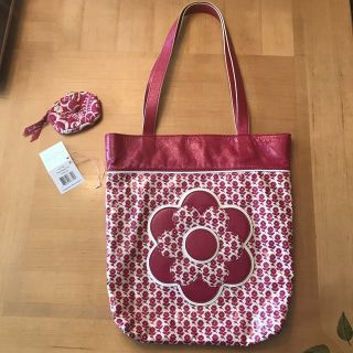 Vera Bradley Twirly Birds Pink A+ Tote & coin purse