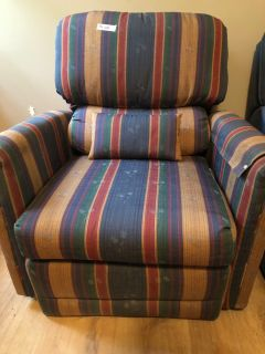 Multi-Colored Reclining Chair With Pillow