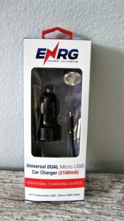 ENRG Universal Micro Car Charger~New in Pkg.