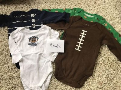Nwt children s place football onesies