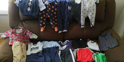 Baby boy clothes size 6 months.
