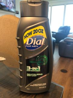 Dial for Men - 3 in 1 Hair, Body and Face - 20 oz